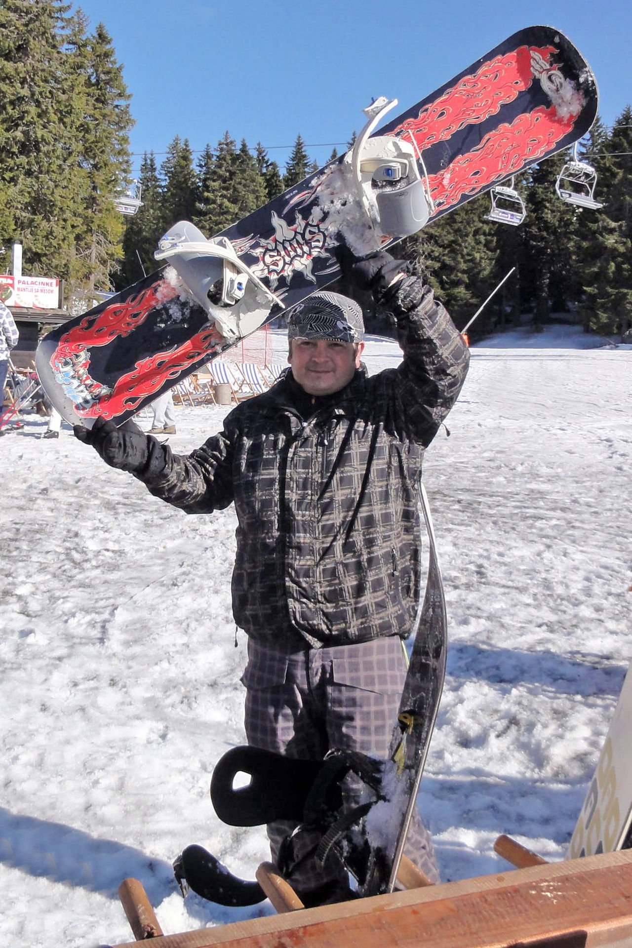 Snowboarding in beautyful day Adventure Cold Day Extreme Sports Looking At Camera One Person Outdoors Real People Ski Center Snow Snowboard Snowboarder Snowboarding Snowboarding Sport Warm Clothing Winter Winter Sport