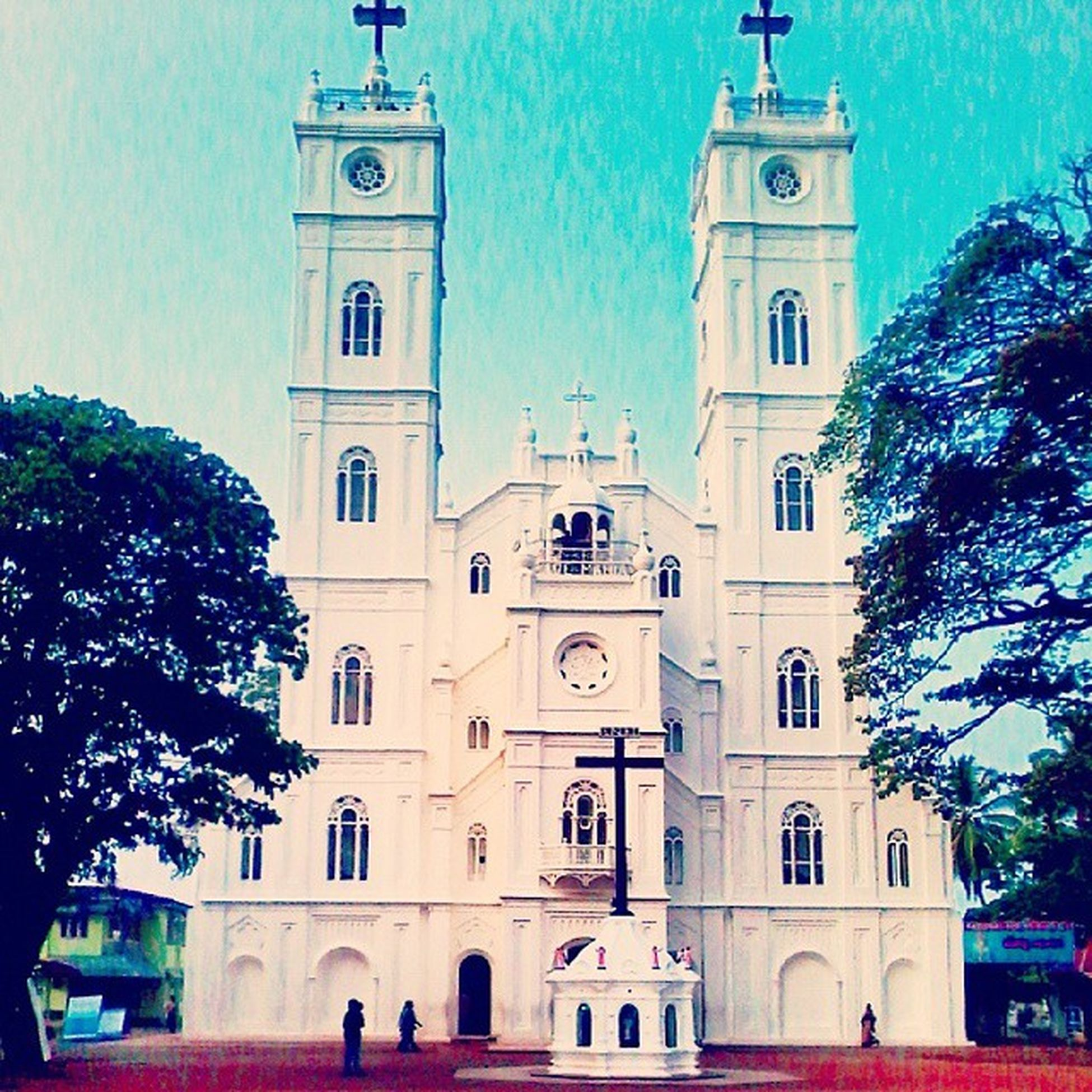 Holy week.... Vallarpadam Beautiful Church God Holy Week Jesus Mary Pray Maundythursday GoodFriday  Easter Ernakulam Kochi GodsOwnCountry Blessed  Peaceful Good Day Nice Place Awesome View Memories