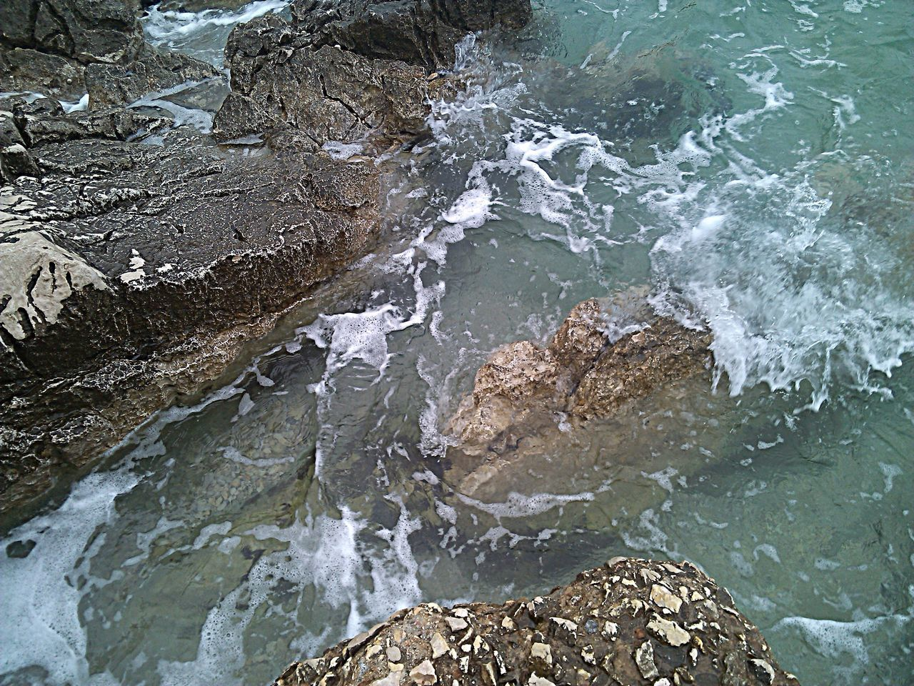 Beauty In Nature Close-up Crikvenica Croatia Day Flowing Water Idyllic Motion Nature Outdoors Rock - Object Sea Water Wave