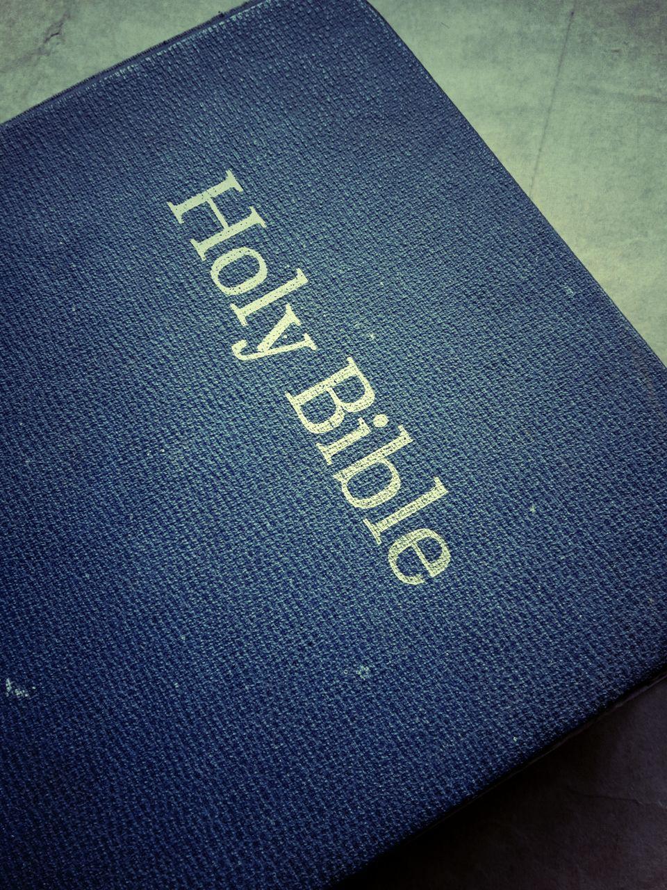 Close-Up Of A Bible