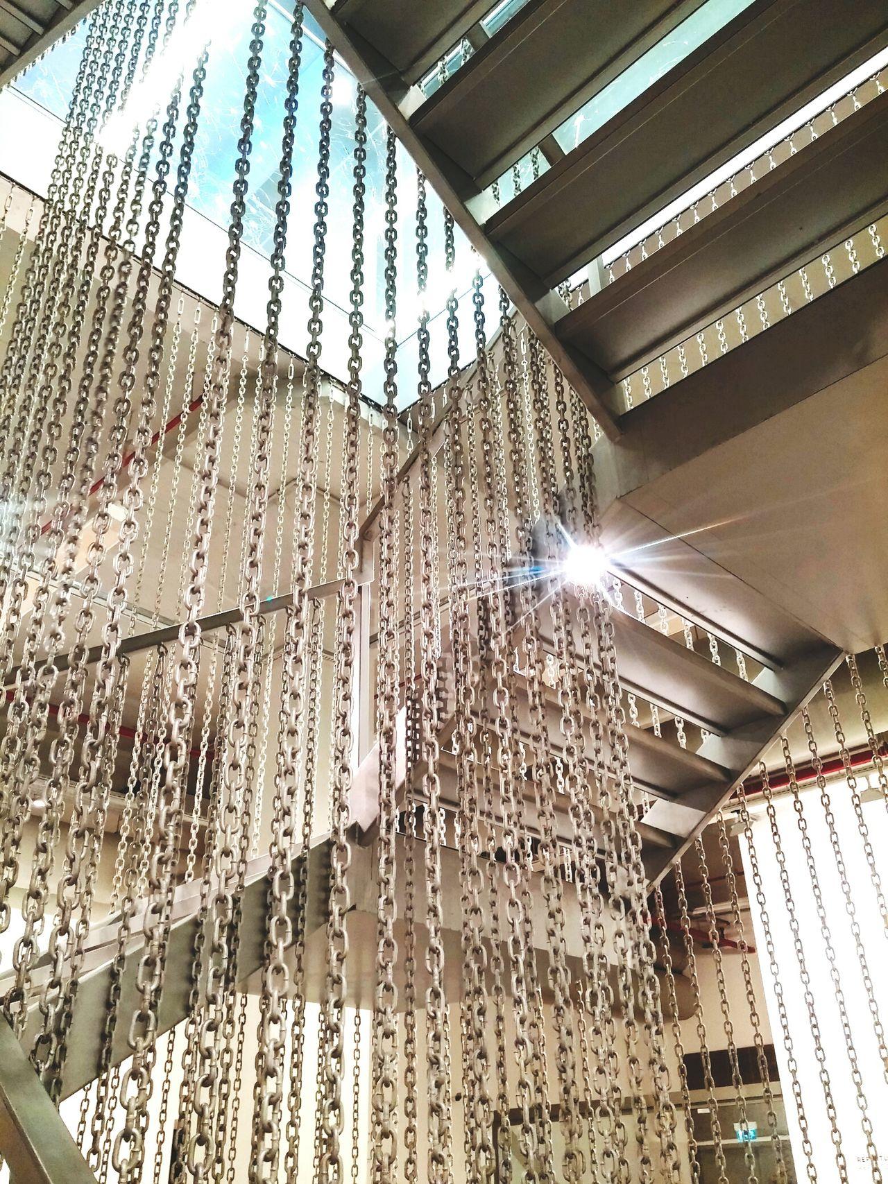 Stairs Chain Sun Light Istanbulmodern Lines Architecture Interior Istanbul Turkey modern sanatlar