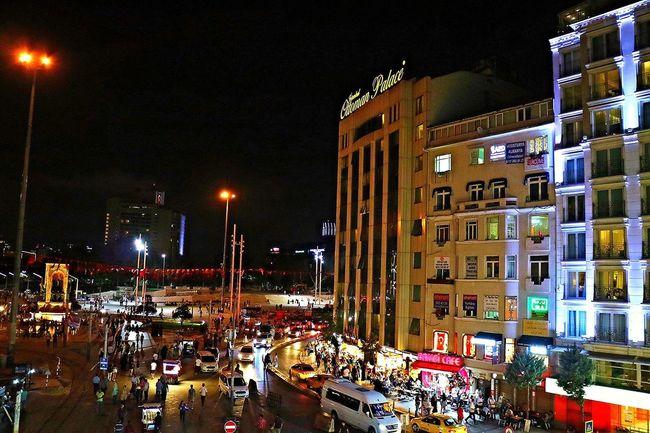 Building Exterior City Car City Life Street Light Travel Night City Street Istanbul Turkey Night Lights Street