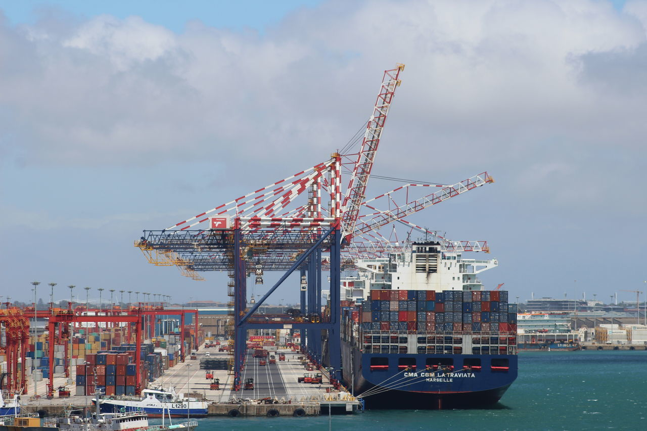 Business Cape Town Commercial Dock Container Ship Container Terminal Containers Crane - Construction Machinery Harbor Industry Nautical Vessel Outdoors Shipping  Transportation Trucks Water