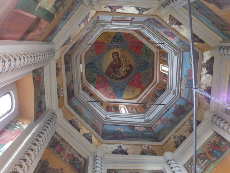 Inside One of St Basil's Domes (1555-1561) ArtWork Building Cathedral Church Colourful Composition Day Inside Dome Moscow Murals No People Paintings Red Square Red Square Moscow Religion Religions Russia St Basil's Cathedral Structure Tourist Attraction