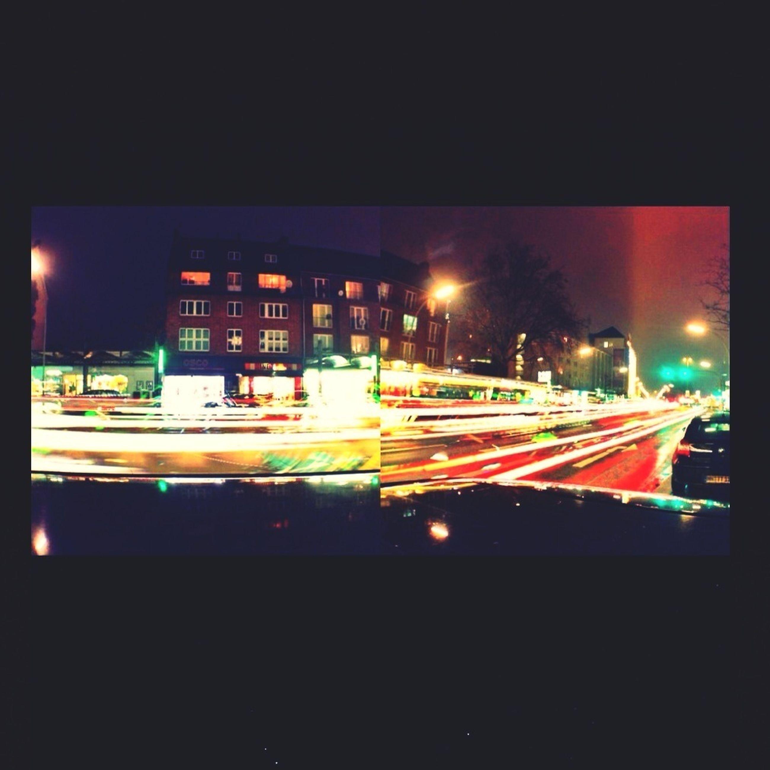 illuminated, night, building exterior, architecture, city, long exposure, built structure, light trail, motion, transportation, speed, street, blurred motion, city life, light - natural phenomenon, car, glowing, lighting equipment, dark, street light