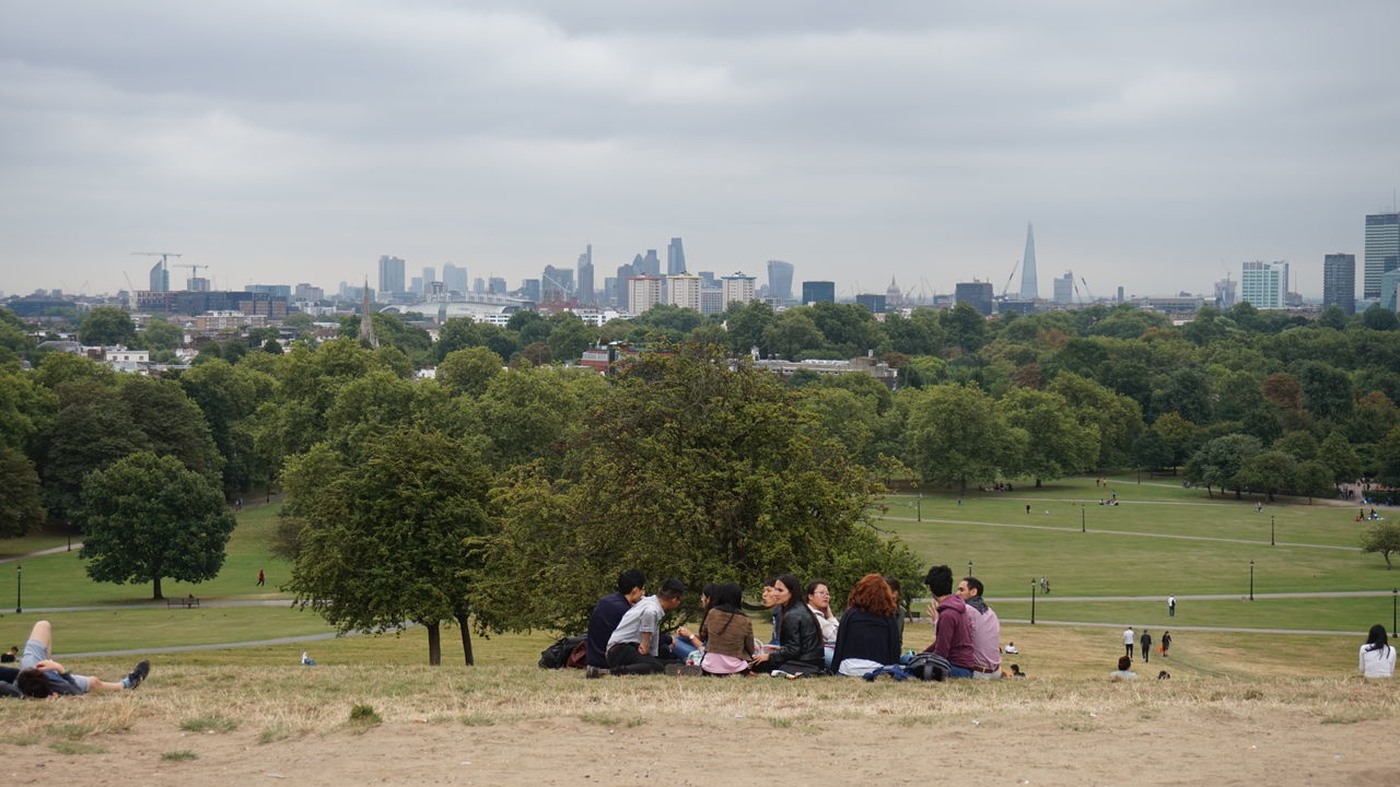 On my way to higher ground Best Parks City City Life Green Space In The City London London Parks London Skyline London Views Outdoor London Outdoors Park Primrose Hill Regent's Park Sky