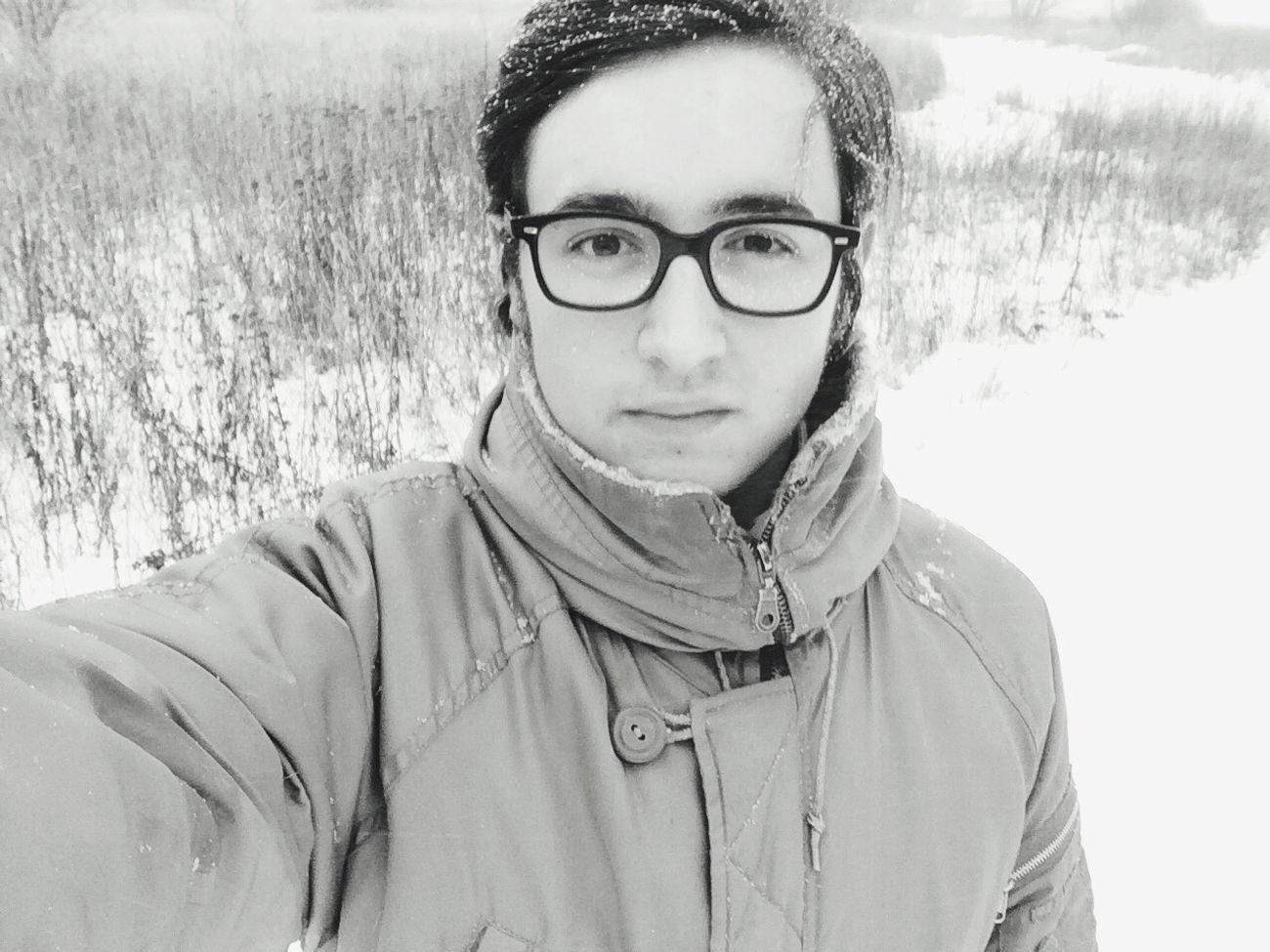Селфач ✌️? я Россия январь зима дача деревня Стиль очки снег 2015