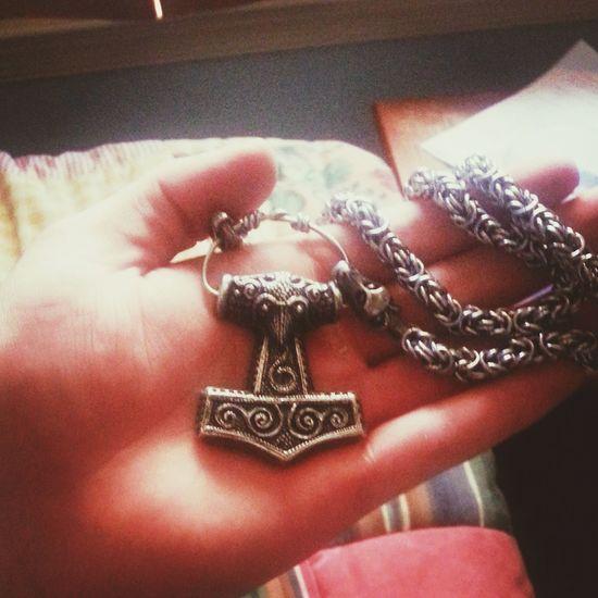 My Skåne Mjolnir pendant! Viking Metalboy Metalhead Asatru Norse Nordic Powerlifter Mjolnir Thor  Thor's Hammer