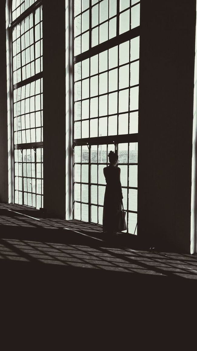 Contemplating Window Looking Blackandwhite Photography