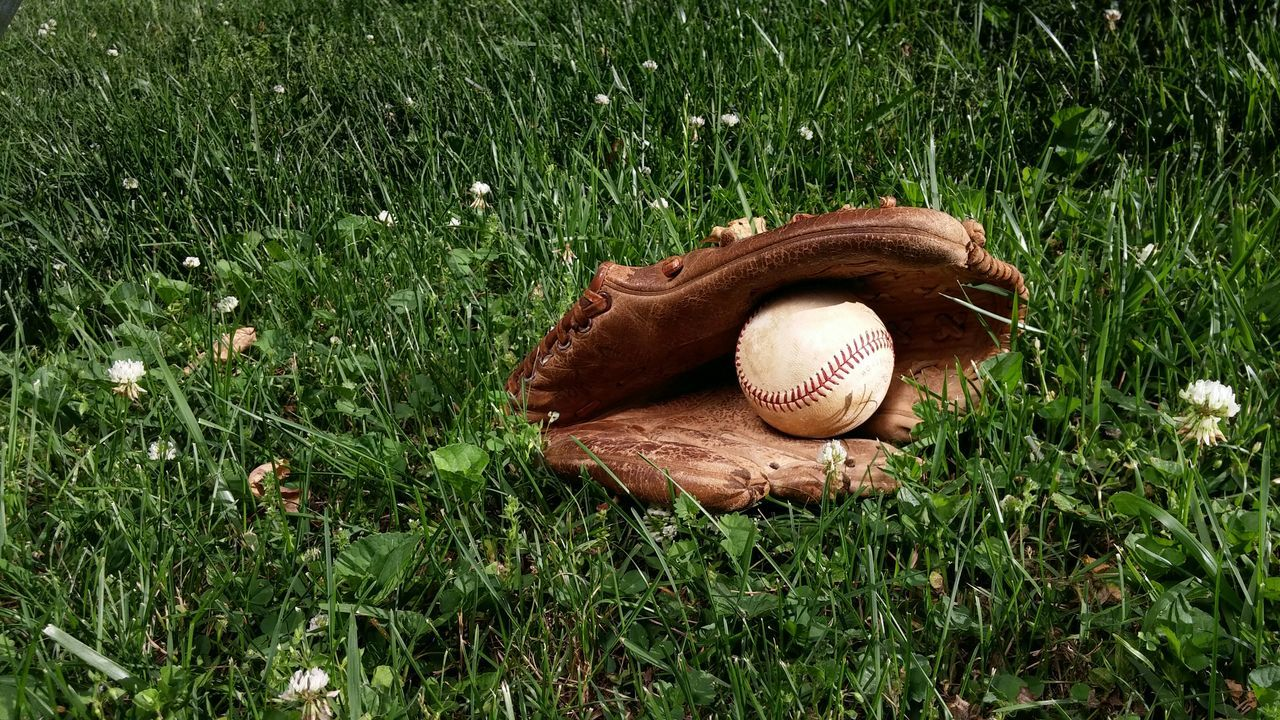 Outdoors Baseball Glove Past Time American Fun Game Play National League