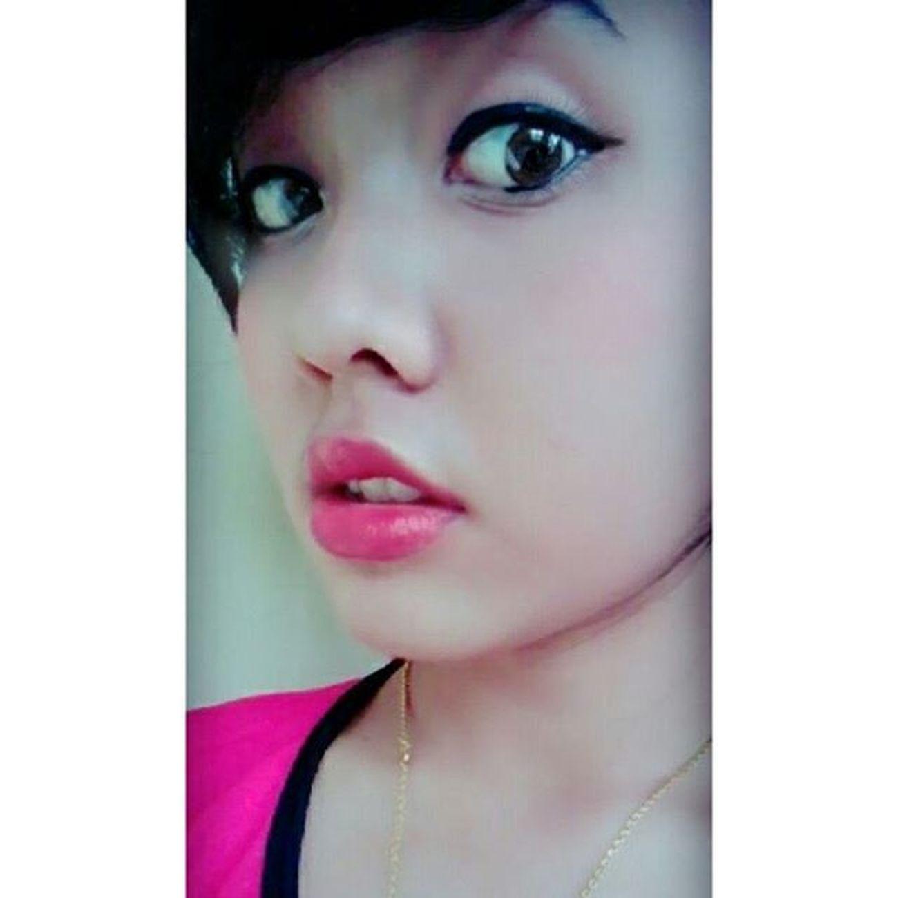 Morning.. Full make up 😂 Happymonday  Happy Makeup Iseng Fun