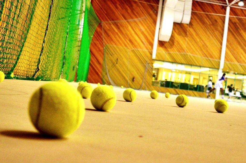 Sport Ball Indoors  Leisure Activity Tennis 🎾 Gym