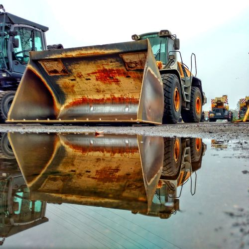 Outdoors Day No People Water Reflection Buldozer Heavy Heavy Equipment