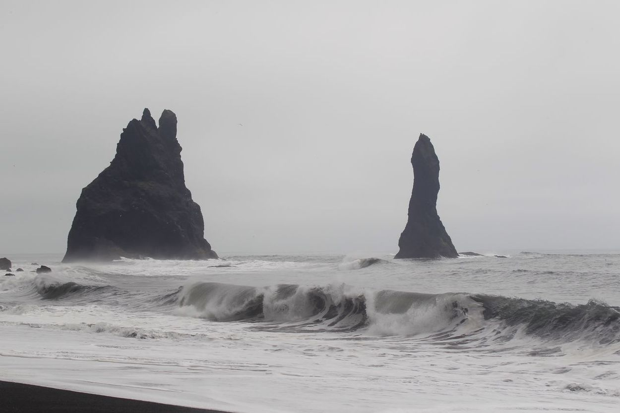 Black Beach, Vik y Myrdal, Iceland, Europe Sea Water Beauty In Nature Nature Horizon Over Water Beach Wave Shore Scenics Tranquil Scene Outdoors Tranquility Power In Nature Motion Sky No People Day Vík í Mýrdal Vik Iceland Travel Destinations Landscape_photography Landscape_Collection Travel Photography Tranquility