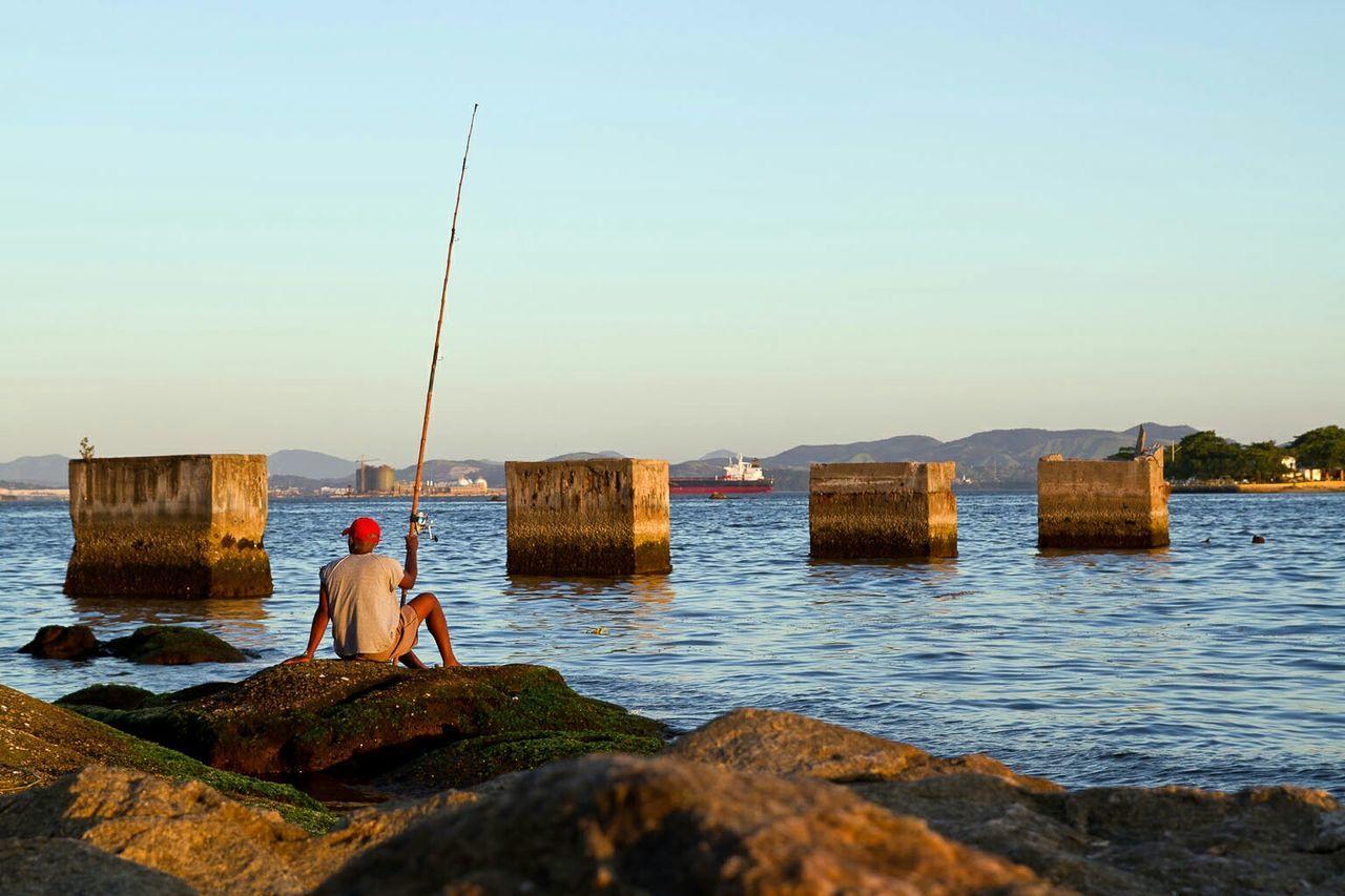 Beautiful stock photos of fishing, Architectural Column, Beach, Brazil, Built Structure