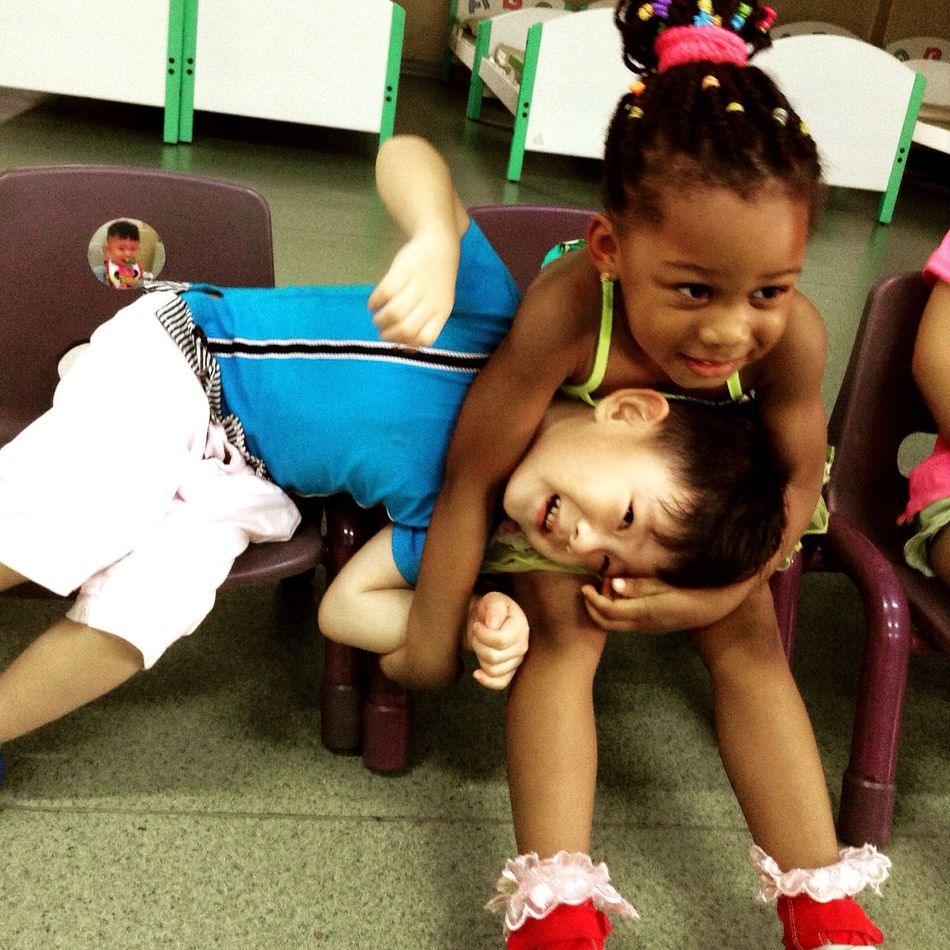 Youth Of Today Kindergarteners in Foshan, China Children Playing Happy People Kindergarten Tefl Teaching English