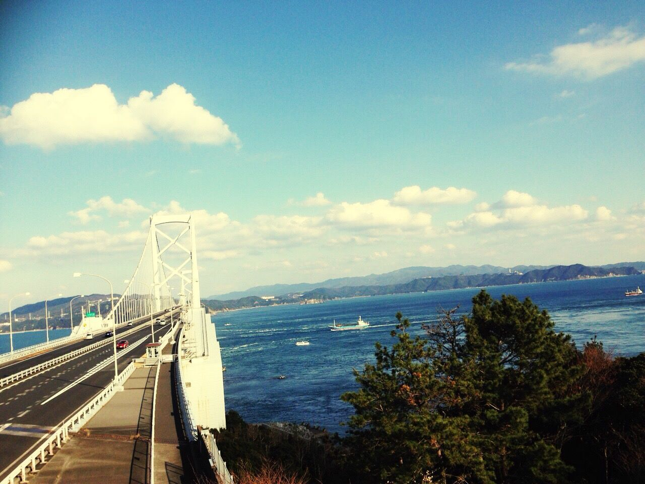 Sky Cloud - Sky Sea Transportation Water Connection Architecture Mountain Bridge - Man Made Structure Day Built Structure Suspension Bridge No People Outdoors Scenics Travel Destinations Road Bridge Nature Beauty In Nature Good Afternoon Make You Coffee The Great Outdoors - 2017 EyeEm Awards