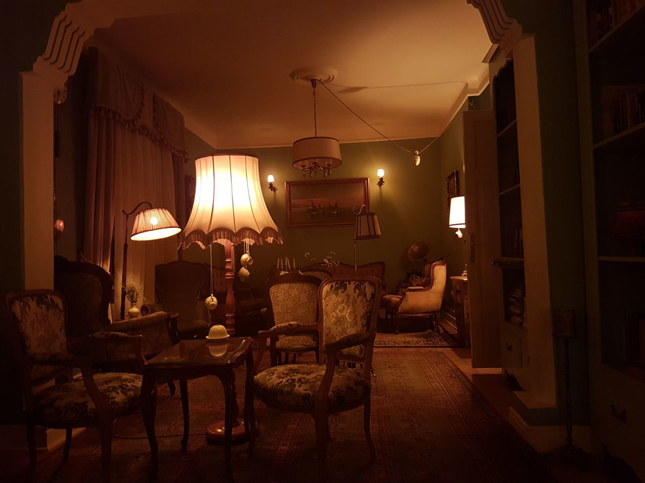 Antique Antique House Chair Home Interior Illuminated Indoors  Night No People Retro Style Table The Architect - 2017 EyeEm Awards