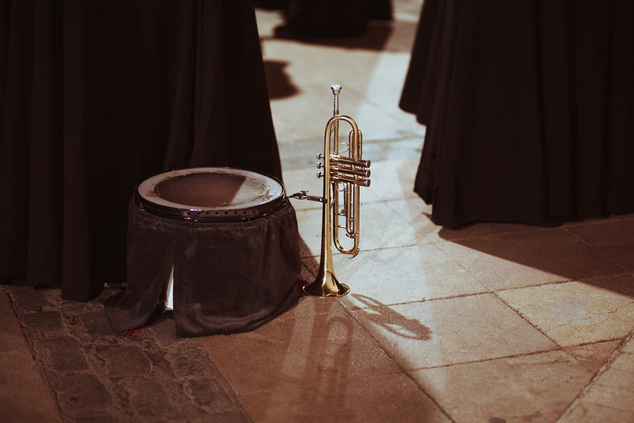 Indoors  No People Stage - Performance Space Musical Instrument Day Light Light And Shadow Playing Trumpet Religion Street Photography Streetphotography