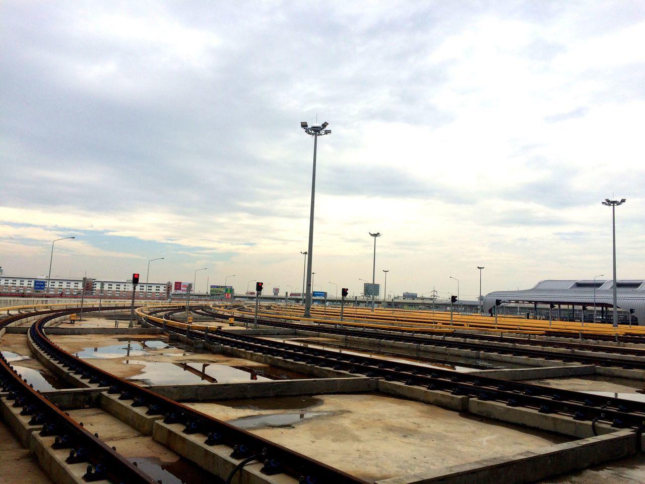 We ❤️ Thailand Transportation Sky Railroad Track Rail Transportation No People Cloud - Sky Outdoors Day Public Transportation Architecture