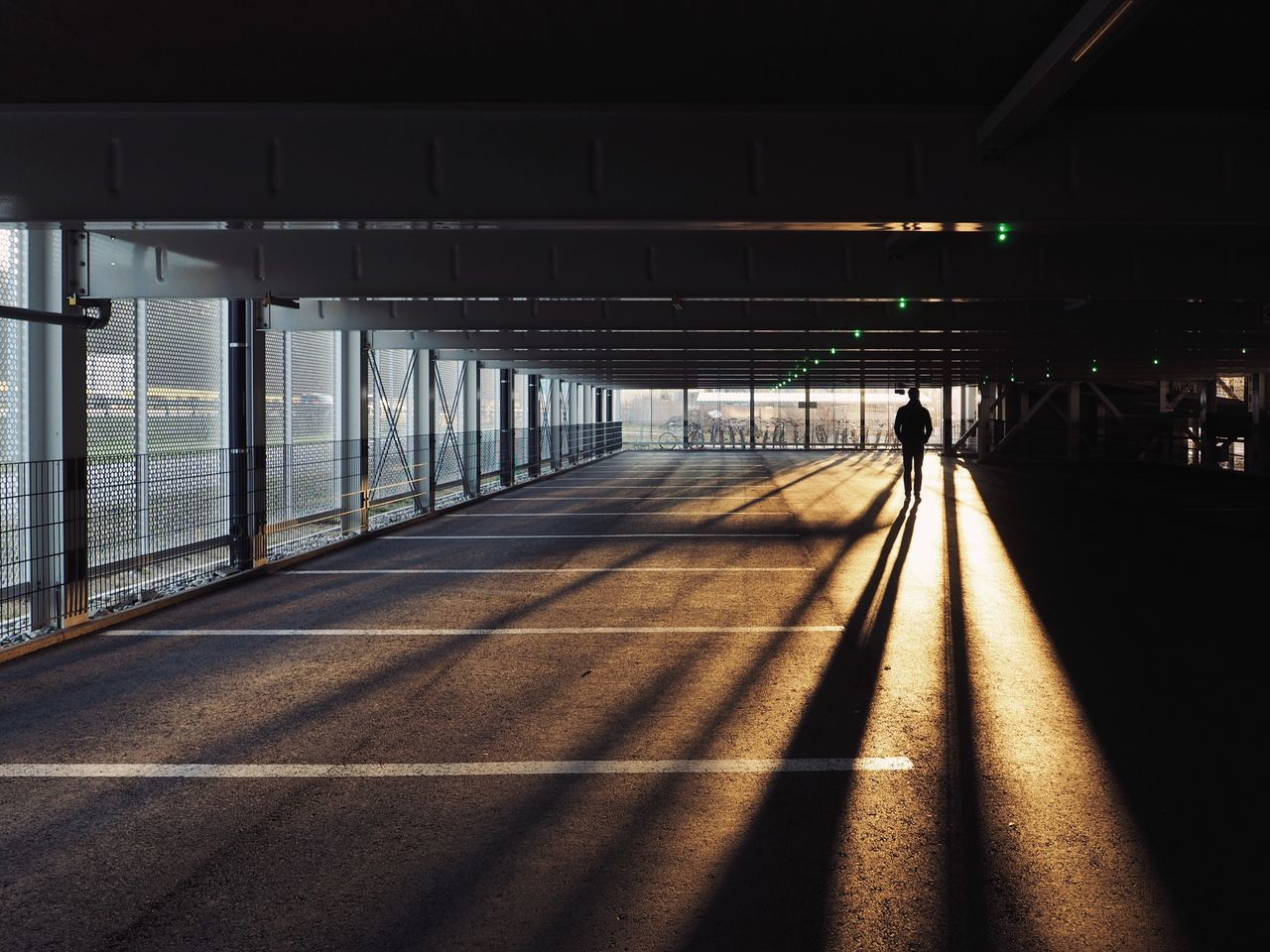The Way Forward Lifestyles Real People Architecture Day Light And Shadow Parking Sunrise Sunrise Silhouette Urban Landscape Urban Urban Geometry Warm Light Long Shadows at Basel, Switzerland