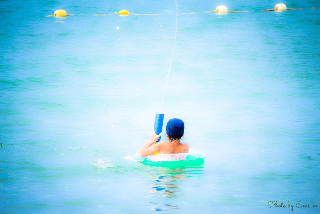海水浴 鳥取 羽合 Relaxing Enjoying Life Holiday Portraits Of EyeEm EyeEm Nature Lover Canon Eoskissx7i Children Sea