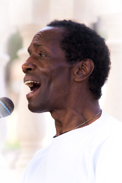 Black People Charles Role Concert Leisure Activity Live Live Music Mallorca Mouth Open Musician One Person Peguera Singer  Singing