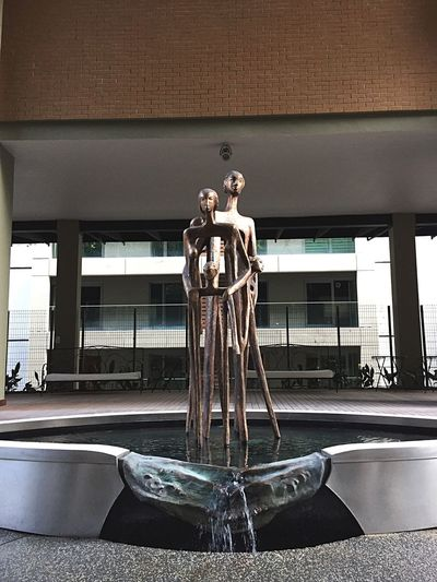 Statue Sculpture Human Representation Male Likeness Architecture Built Structure Architectural Column Day Indoors  No People Building Exterior Sky