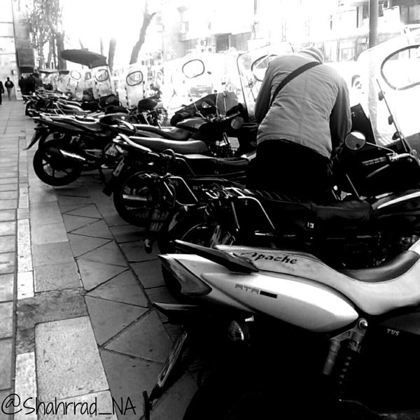 Art هنر Shahrrad_NA Photography Photo Motor Blakandwhite Motor Cycle