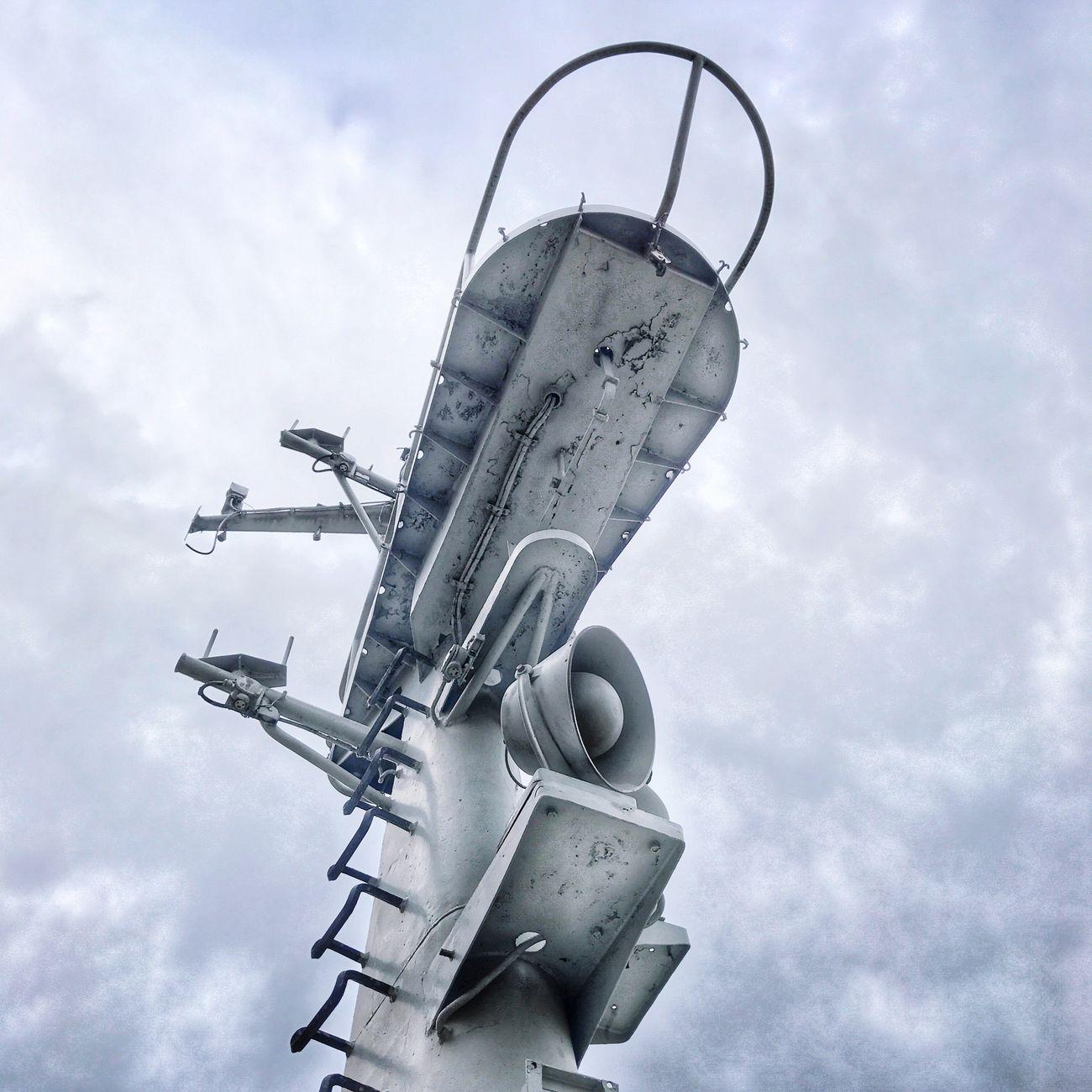 Submarine Mast Periscope Sky Low Angle View Cloud - Sky No People Outdoors Air Vehicle Day Nautical Nautical Vessel Navy Moody Sky Moody Grey Grey Sky