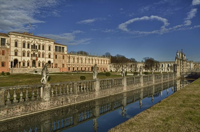 Architecture Building Exterior Built Structure Culture Famous Place History Piazzola Sul Brenta Reflection Sky Tourism Travel Destinations Veneto Italy Water