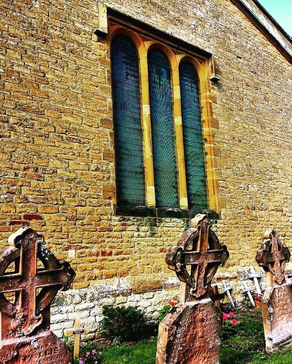Old Church Boughton Village Northampton England Uk Croix Cruz Cementery