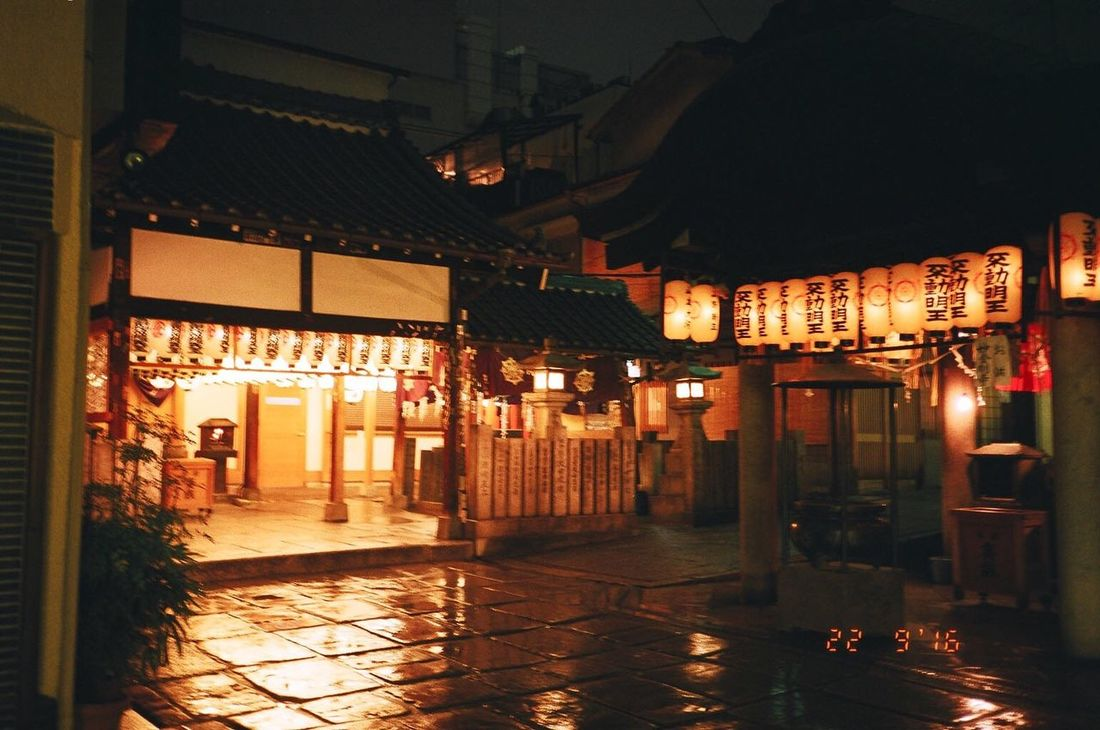 Lighting Equipment Street Night Temple Silent OSAKA Japan Japan Photography Korean Trip Trip Photo 夜 あたたかい Mood Orange Orange Color