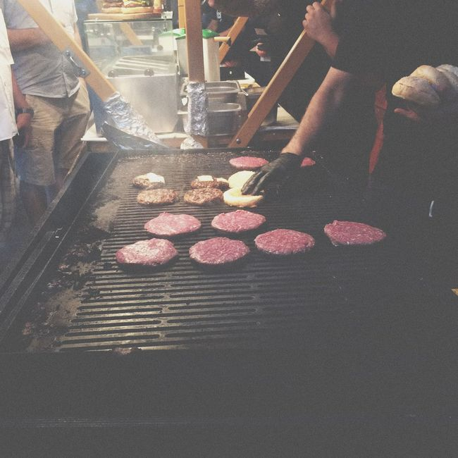 Quality meat is being grilled. Meat Burger Artisan Beer Europe Slovenia Ljubljana