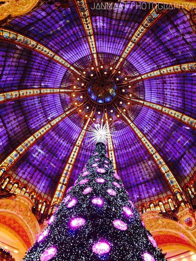 The Culture Of The Holidays Galeries Lafayette Lafayette Colorful Color Colors Christmas Tree Christmas Lights Christmas Decorations Christmas Around The World Christmas Time Ceiling Multi Colored Architecture Pattern Ceiling Ceiling Design Ceilingporn Paris Paris, France  Paris ❤ Paris Je T Aime ParisByNight Colors And Patterns