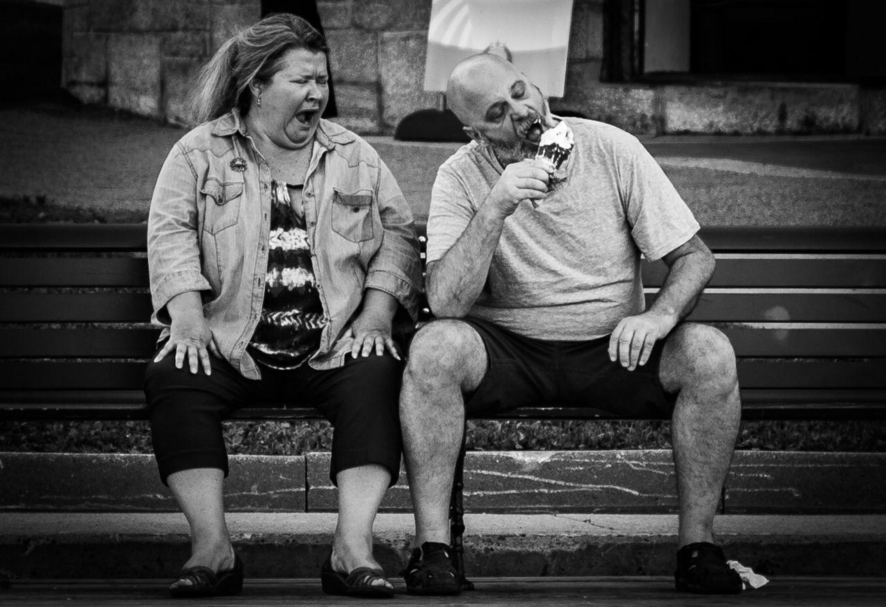 I scream for Icecream . Blackandwhite Monochrome Streetphotography Shades Of Grey People Watching Couple Kids Being Kids EyeEm Best Shots Summer Views