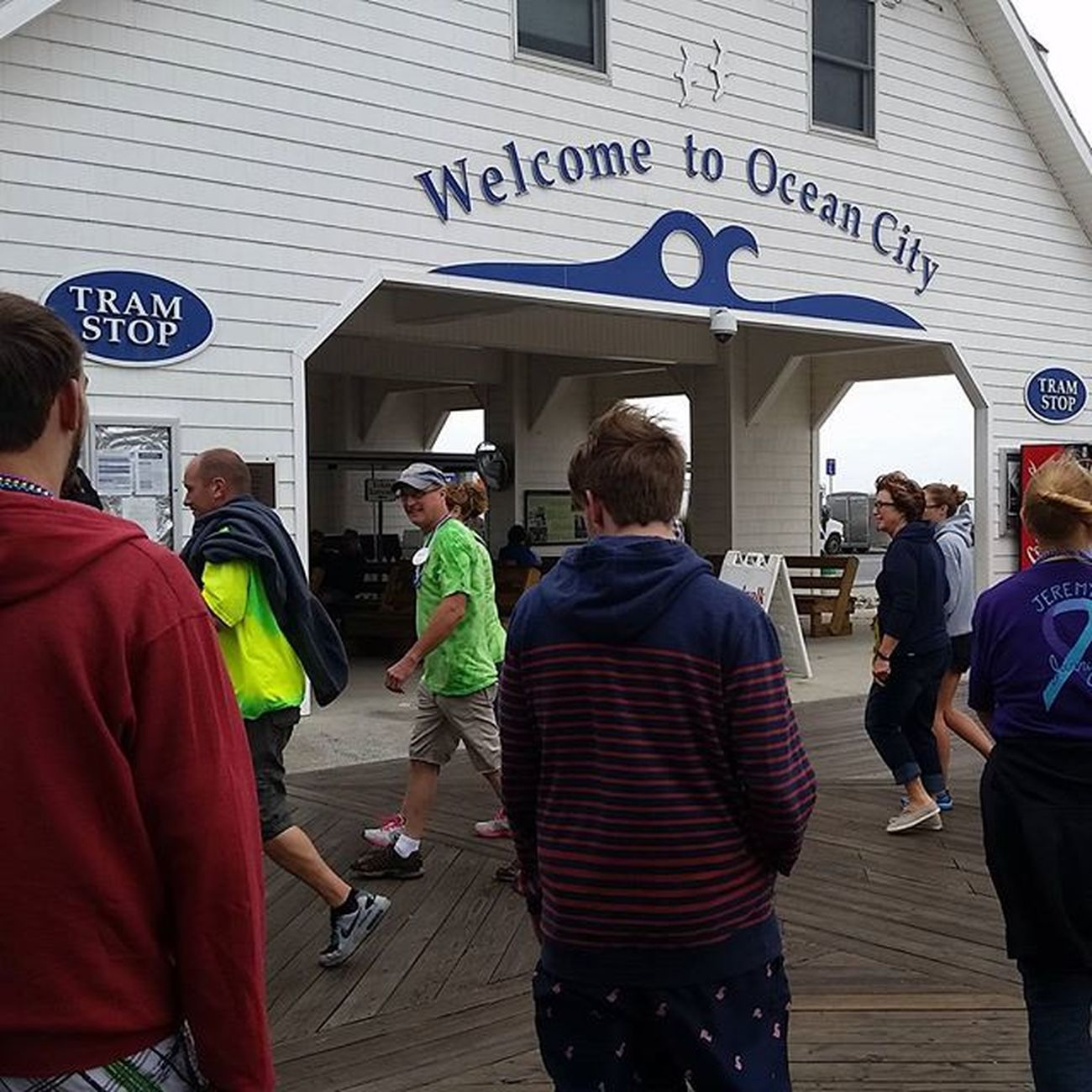 OC Suicide Prevention Walk 2015 making the turn at the Ocean City Tram Stop... Suicidewalk2015 Suicideprevention Oceancitycool OceanCity maryland ocmd