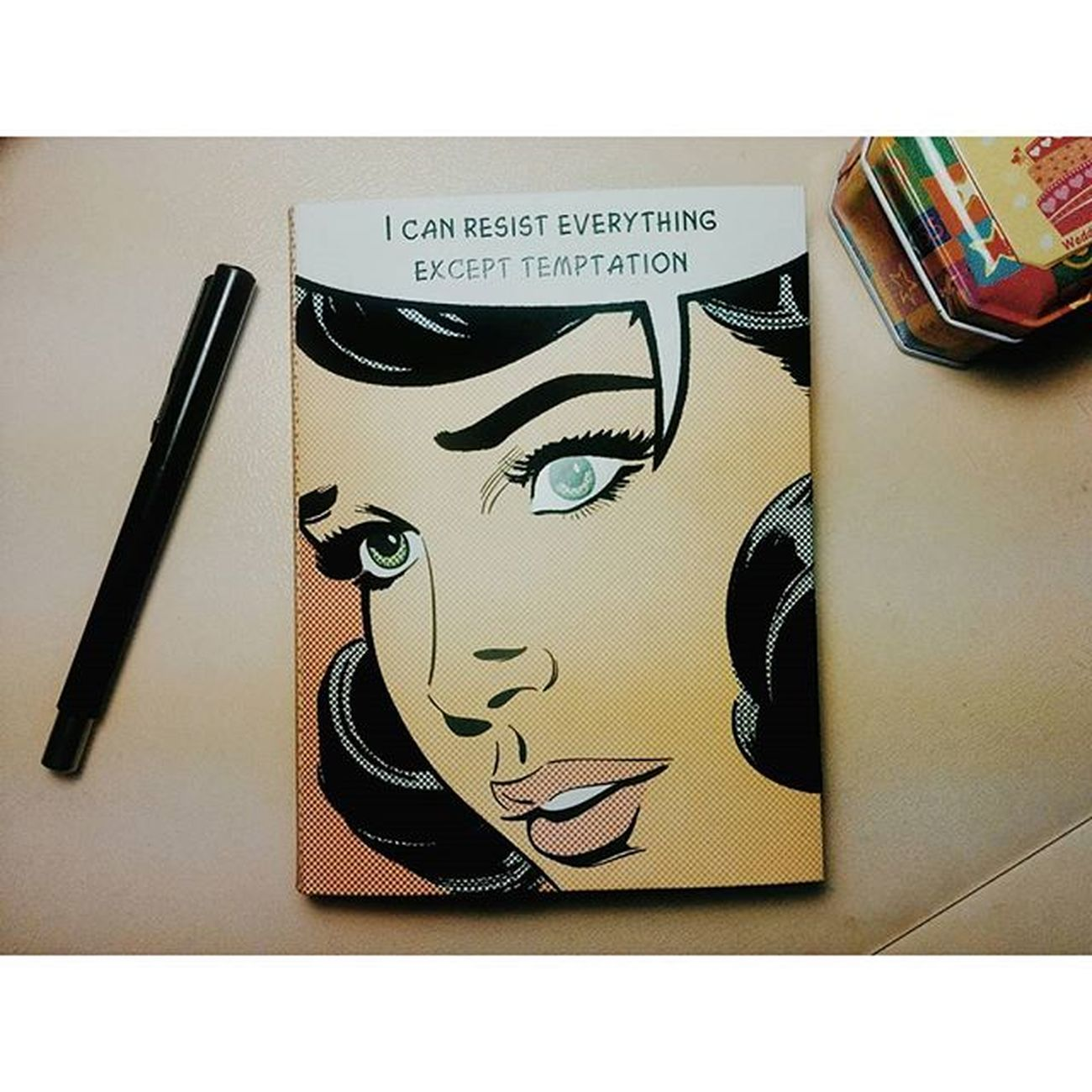 "Best gift ever! Multam @deniseedee 😘😍 ""I can resist everything except temptation"" - Oscar Wilde 😇 _____________________________________ Ig_bucharest Ig_romania Ig_europe Igersbucharest Igersromania Igaddict Popart Romania Happy Vscogood Vscoromania Organizer Planner Notebook Writing Oscarwilde Parker Retro Vintage Agenda Awesome Stationeryi Penfreaks Photooftheday Latergram bestgiftever bestfriend calligraphy calligraphyfreak"