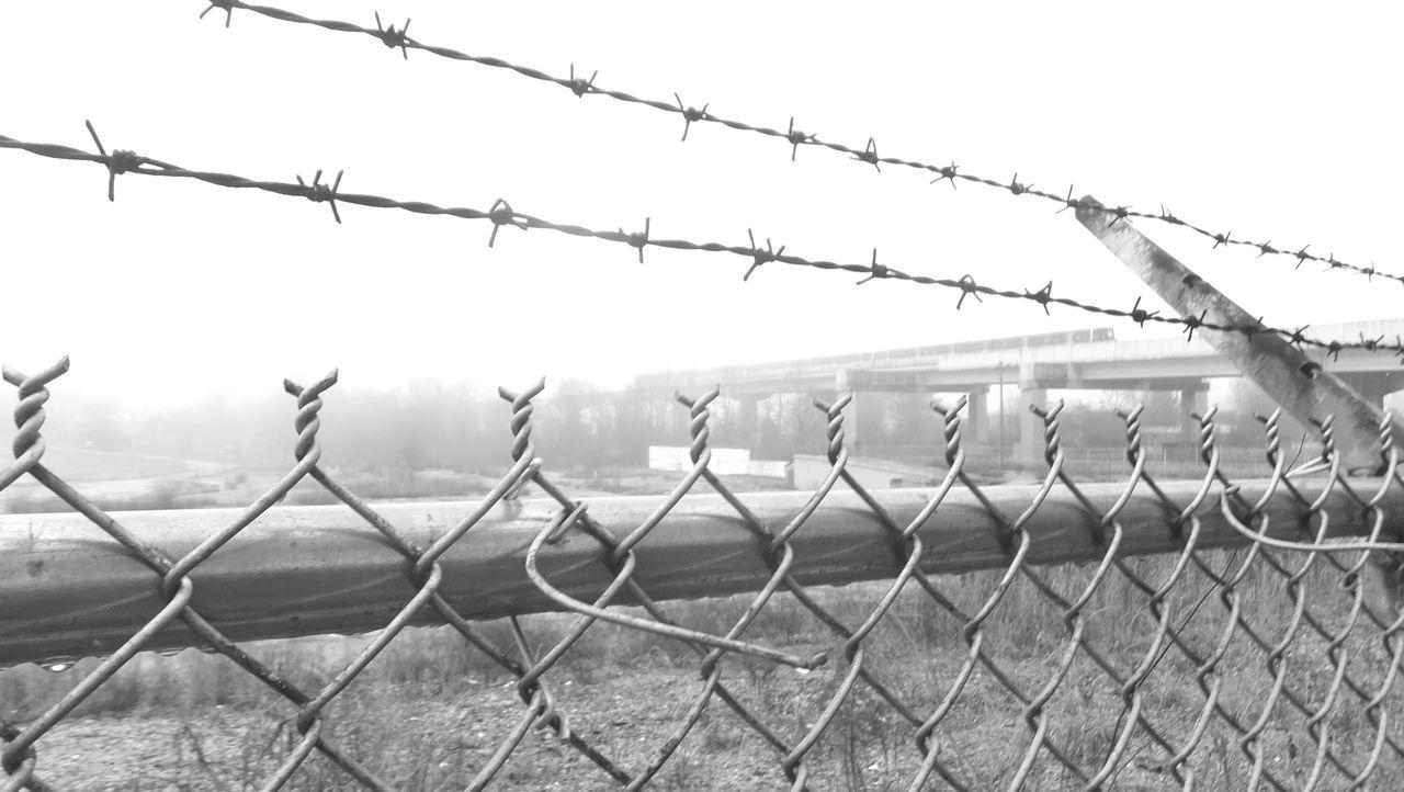 Fenced Out Avondaleestates Atlanta Marta Black And White Urban Landscape