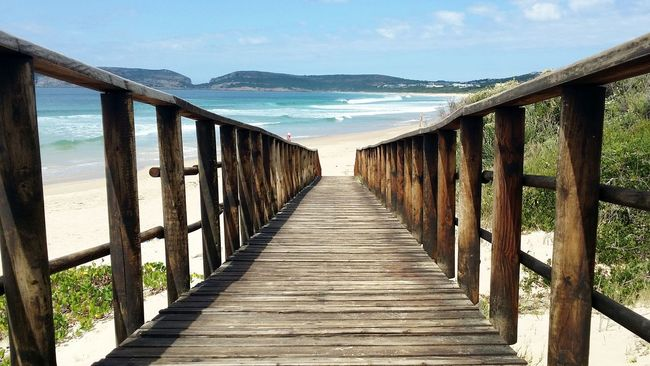 Going to the beach in Plettenberg Bay, Southafrica Enjoying Life Learn & Shoot: Balancing Elements Blue Sky EyeEm Best Shots - Nature Tranquil Scene Escapism Southafrica Plettenberg Way To The Beach Wooden Path Waves, Ocean, Nature Showcase March Landscapes With WhiteWall Things I Like The KIOMI Collection Blue Wave The Great Outdoors With Adobe The Architect - 2016 EyeEm Awards The Great Outdoors - 2016 EyeEm Awards The Essence Of Summer Fine Art Photography Color Of Life Pivotal Ideas