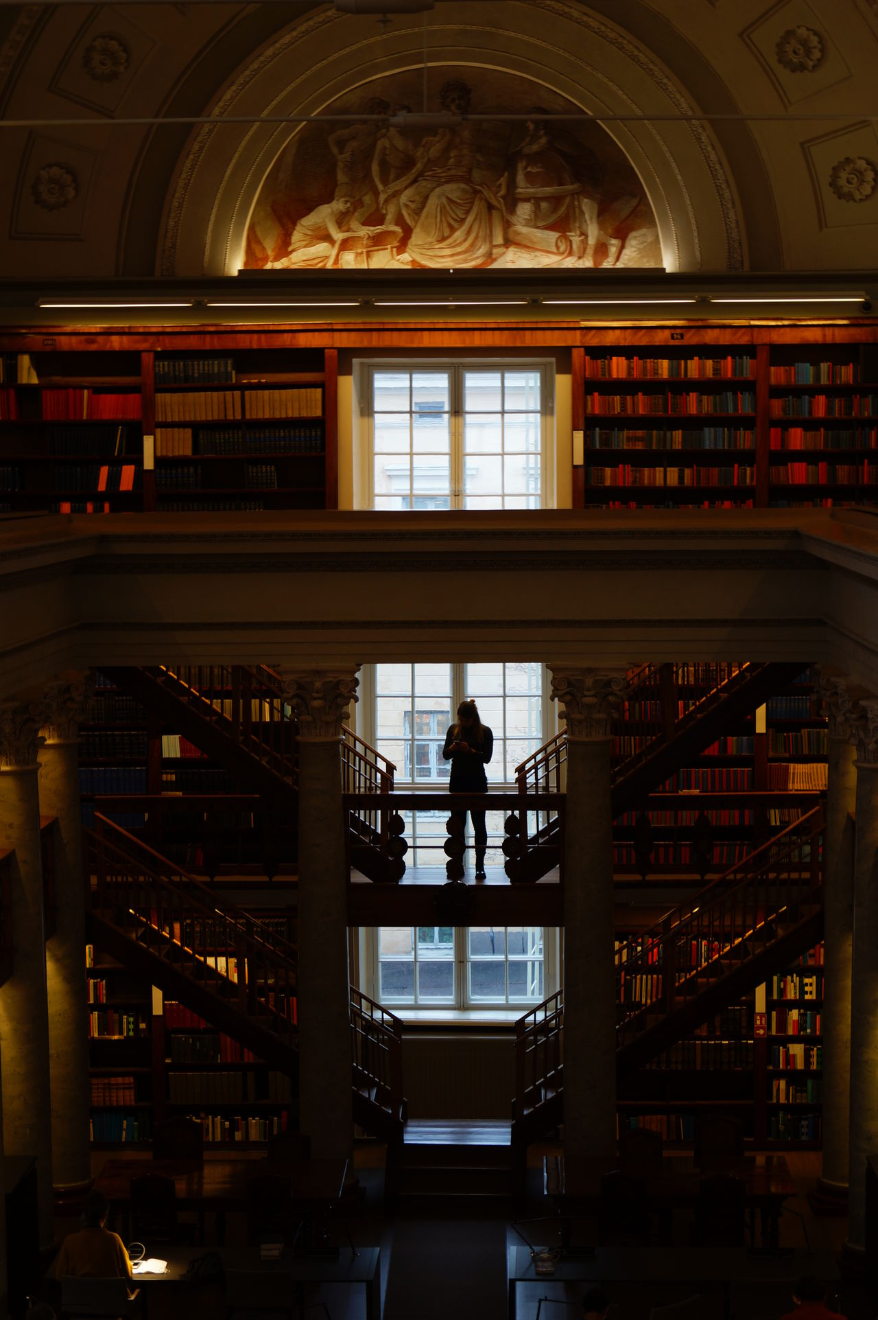 Architecture Books Built Structure Indoors  Library Shelves Stairs Symmetry Travel Destinations