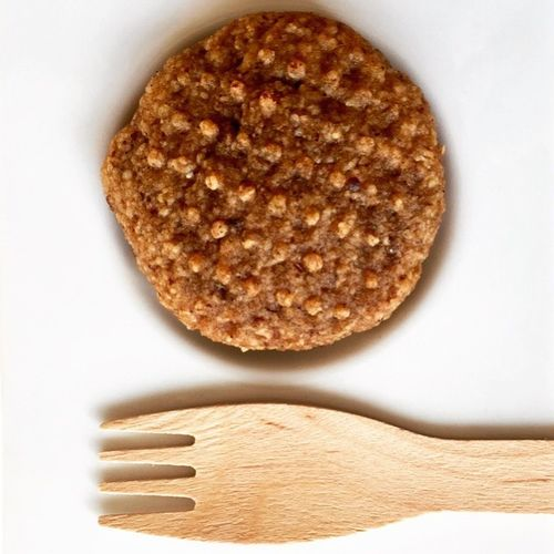Wooden Cutlery Eating Healthier Vegan Dates and Tahini Cookie Hurmašica On A Plate Round Showcase: February
