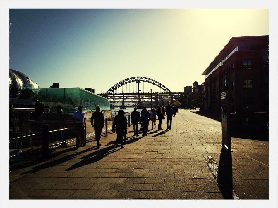 Sunset Silhouettes Tyne Bridge Newcastle Newcastle Quayside The Sage