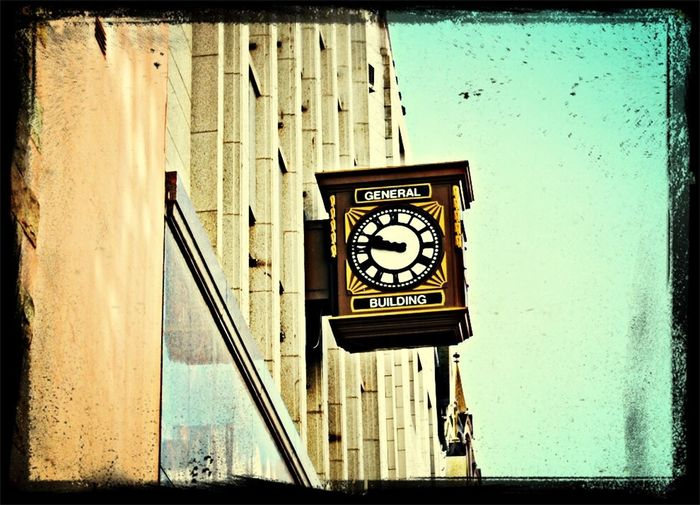 I see the clock upon the wall...