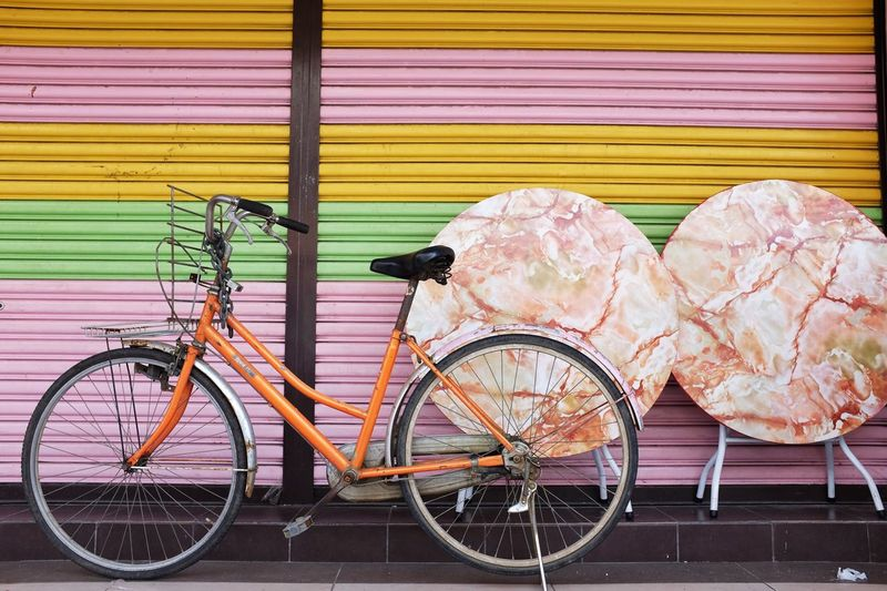 Bike. Bicycle Transportation No People Outdoors Land Vehicle Day
