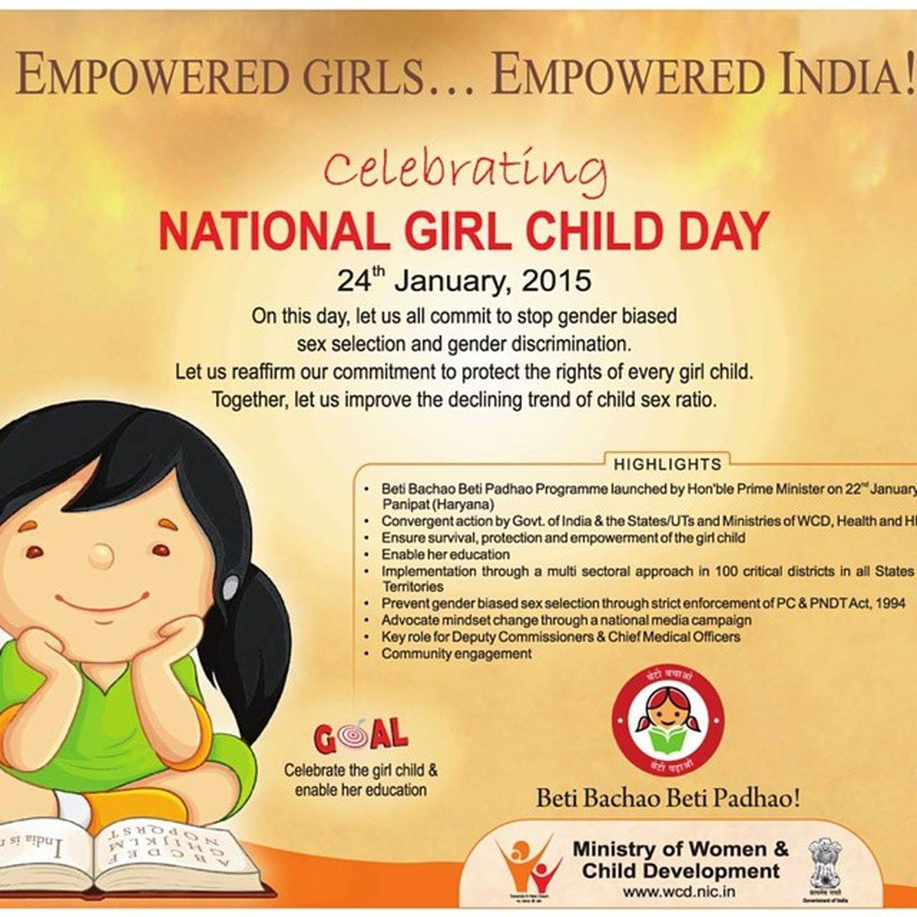 Empowered girls .... Empowered India BetiBachaoBetiPadhao with NationalGirlsDay ...!!