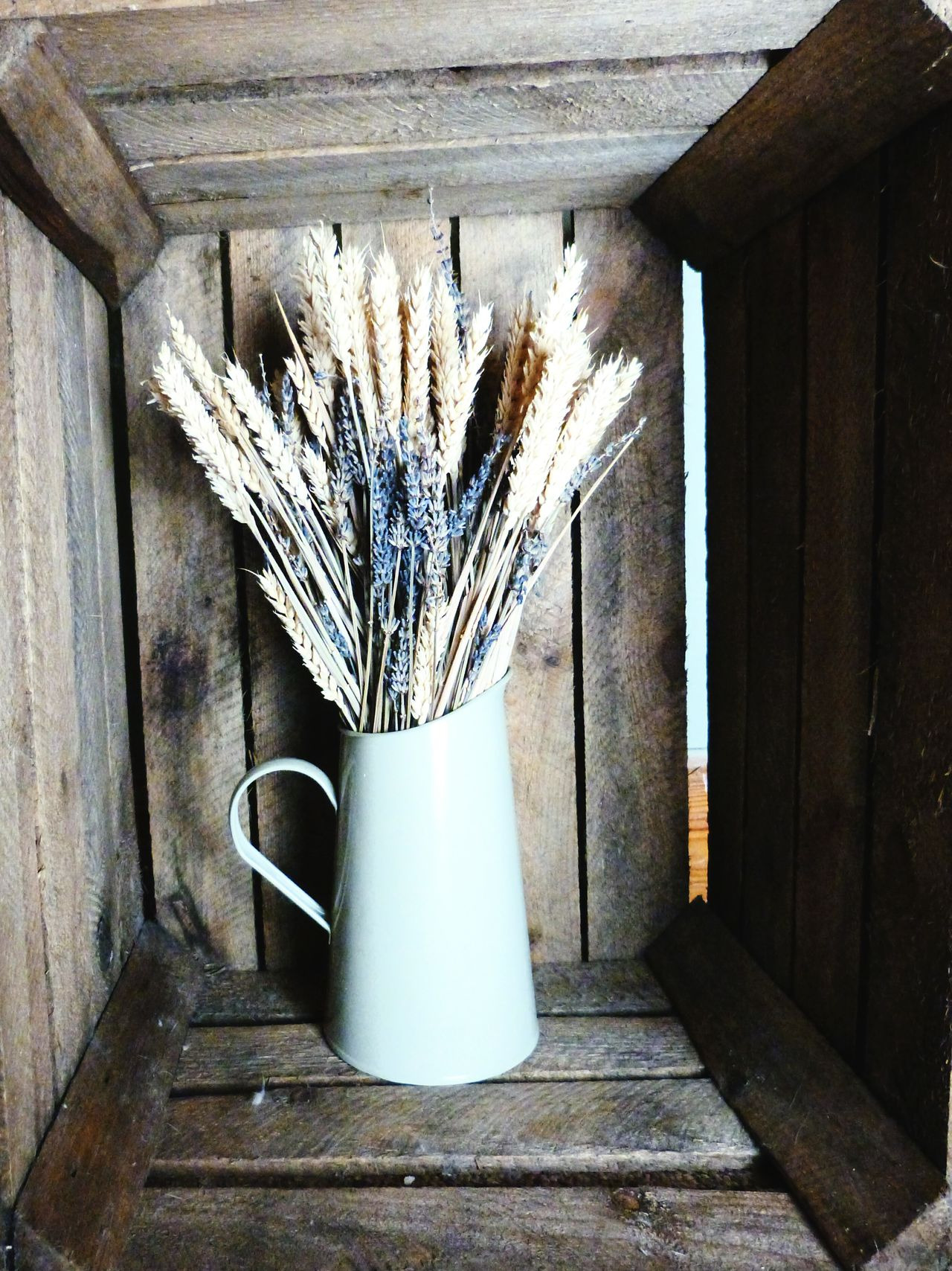 Wheat and lavender Flowers Dried Flowers Wheat Lavender Crate Wooden Crate Rustic Earthy Green Beautiful