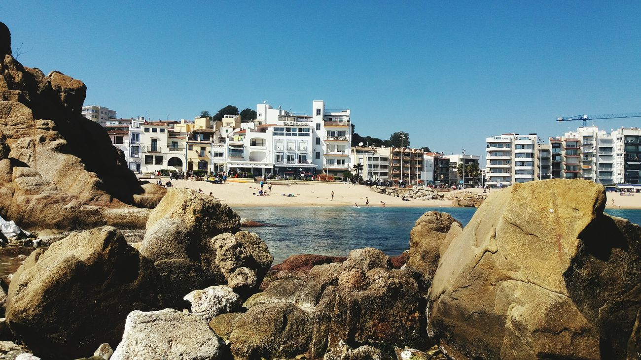 Beach Architecture Sea Water Clear Sky Urban Skyline Nature Sky Day Sunny Blanes Blanesturismo Live For The Story