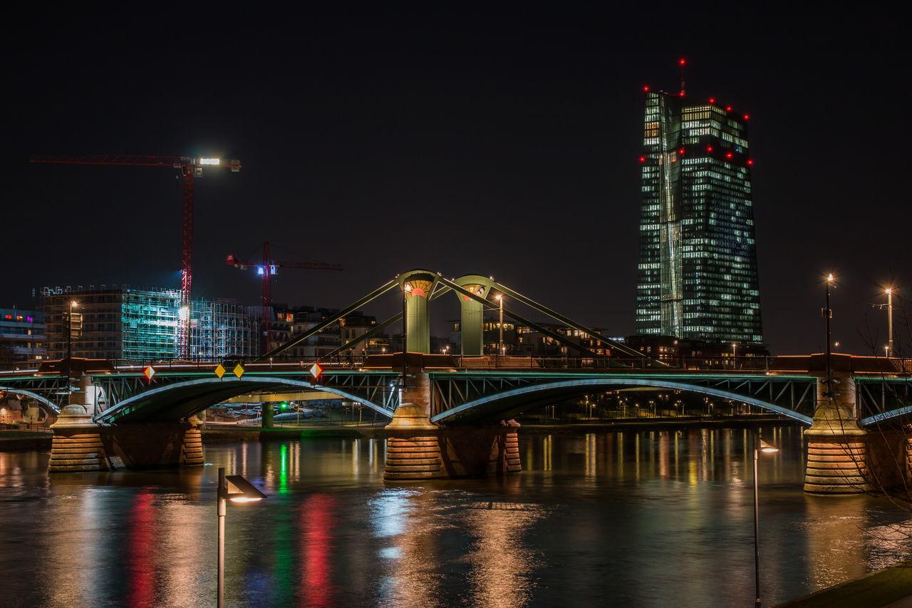 Architecture Built Structure City Frankfurt Am Main Illuminated Langzeitbelichtung Luminale 2016 Night