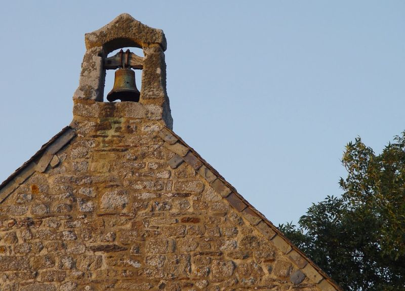 Mont Dol - Chapel 2007 Architecture Beauty Of Nature Bell Bretagne Built Structure Clear Sky Clock Day France Low Angle View Mont Dol No People Outdoors Reliability Religion Sky